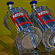 Nos Bottles In A Racing Truck Trunk Poster
