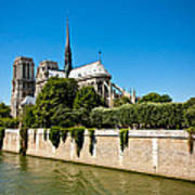 Notre Dame Cathedral And The Seine Poster