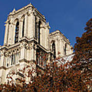 Notre-dame De Paris - French Gothic Elegance In The Heart Of Paris France Poster