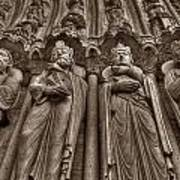 Notre Dame Facade Detail Poster