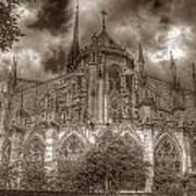 Notre Dame From East Garden Poster