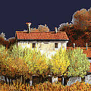 Notte In Campagna Poster by Guido Borelli