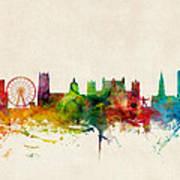 Nottingham England Skyline Poster