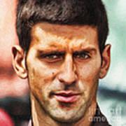 Novak Djokovic Poster by Nishanth Gopinathan