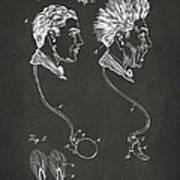 Novelty Wig Patent Artwork Gray Poster