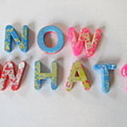 Now What - Magnetic Letters Poster