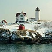 Nubble In Winter Poster