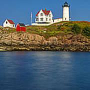 Nubble Light And A Clear Blue Sky Poster