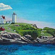 Nubble Lighthouse Sunrise Poster