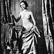 Nude And Curtains, C1850 Poster
