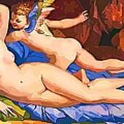 Nude Art Painting Poster