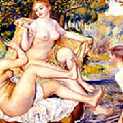 Nude Bathers Poster