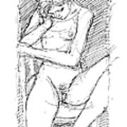 Nude Female Sketches 4 Poster