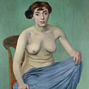 Nude In Blue Fabric, 1912 Poster