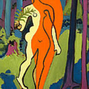 Nude In Orange And Yellow Poster