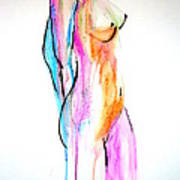 Nude In Watercolor Poster