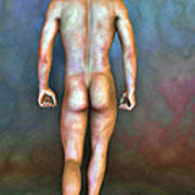 Nude Male With Blemishes Poster