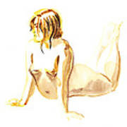 Nude Model Gesture Iv Poster