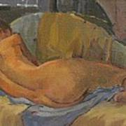 Nude On Chaise Longue Poster