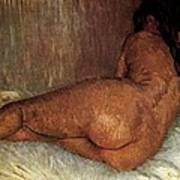 Nude Woman Reclining Poster
