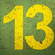 Number 13 Poster