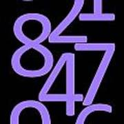 Numbers In Purple And Black Poster