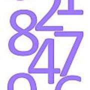 Numbers In Purple Poster