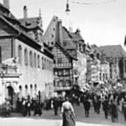 Nuremberg Street Scene Poster