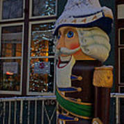 Nutcracker Statue In Downtown Grants Pass Poster