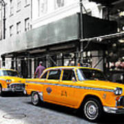 Ny Streets - Yellow Cabs 1 Poster