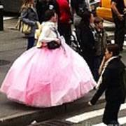 Nyc Ball Gown Walk Poster