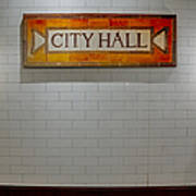 Nyc City Hall Subway Station Poster