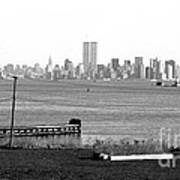 Nyc In The Distance 1990s Poster by John Rizzuto