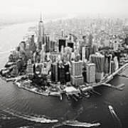 Nyc Manhattan Aerial Poster