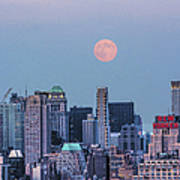 Nyc Pastel Supermoon Poster