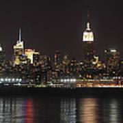 Nyc Skyline At Night Poster
