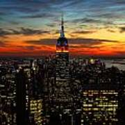 Nyc Sunset Poster
