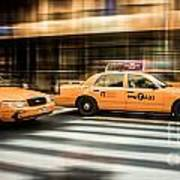 Nyc Yellow Cabs Poster