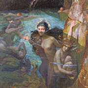Nymphs At A Grotto Poster