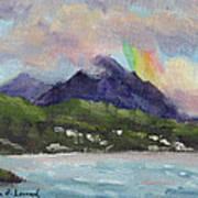 Oahu North Shore Rainbow Poster