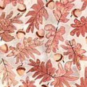 Oak Leaves And Acorns Poster