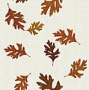 Oak Leaves Art Poster