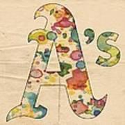 Oakland Athletics Logo Vintage Poster
