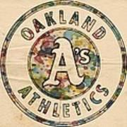 Oakland Athletics Poster Vintage Poster