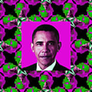 Obama Abstract Window 20130202m60 Poster