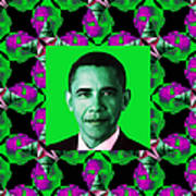 Obama Abstract Window 20130202p128 Poster