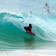 Obama's Boyhood Bodysurfing Beach Poster