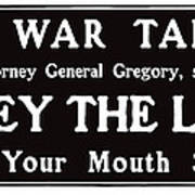 Obey The Law Keep Your Mouth Shut Poster