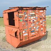 Obx Beach Dumpster Poster