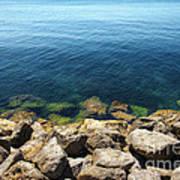 Ocean And Rocks Poster